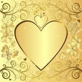 Valentine elegant golden background Stock Photos