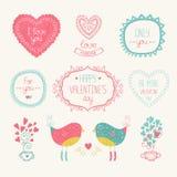 Valentine-elementen Stock Foto