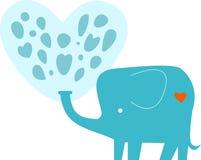 Valentine Elephant Fotos de archivo libres de regalías