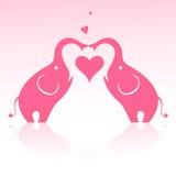 Valentine elephant Stock Image