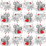 Elephant lovers seamless pattern Royalty Free Stock Photo