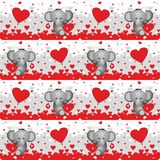Elephant lovers seamless pattern  Royalty Free Stock Image