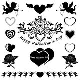 Valentine emblem and icons Royalty Free Stock Photos