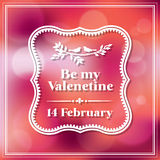 Valentine en de Achtergrond van Bokeh van de huwelijkskaart Stock Foto