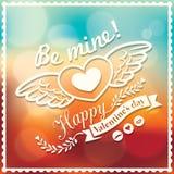 Valentine en de Achtergrond van Bokeh van de huwelijkskaart Stock Afbeelding