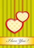 Valentine en tant que deux coeurs Illustration Stock