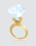 Valentine Engagement Ring illustration stock
