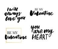 Valentine' ; ensemble de jour de s de symboles calligraphie Illustration de vecteur Gris sur le fond blanc illustration libre de droits