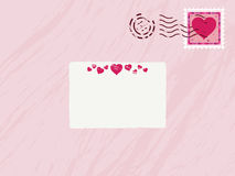 Valentine envelope Royalty Free Stock Image