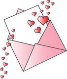 Valentine Envelope Stock Image