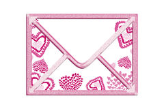 Valentine envelope Stock Photo