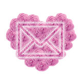 Valentine envelope Royalty Free Stock Images