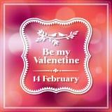 Valentine et fond de Bokeh de carte de mariage Photo stock