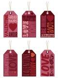 Valentine-etiketten Royalty-vrije Stock Foto's