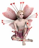 Valentine Fairy Boy Royalty Free Stock Photos