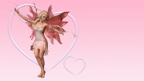 Valentine Fairy Card with Copyspace - 1 Stock Photos