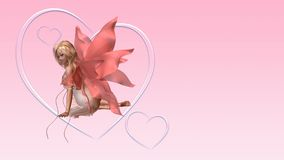 Valentine Fairy Card with Copyspace - 2 Stock Photo