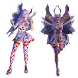Valentine fairy with violet hair Stock Photo