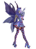 Valentine fairy with violet hair Stock Image