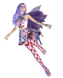 Valentine fairy with violet hair Royalty Free Stock Photos