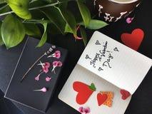 Valentine& felice x27; carta di giorno di s Fotografie Stock Libere da Diritti