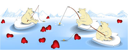 Valentine fishing Royalty Free Stock Photography