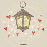 Valentine flashlight Stock Photography