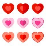 Valentine Flat Icon Heart Stock Photos
