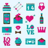 Valentine flat icon, vector Royalty Free Stock Photography