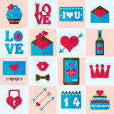 Valentine flat icon, vector Royalty Free Stock Images
