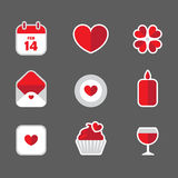 Valentine flat icons Royalty Free Stock Photo