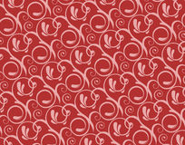 Valentine flora pattern. Beautiful curved flora pattern for valentine day Stock Photos