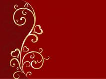 Valentine floral background Royalty Free Stock Photography