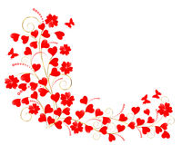 Valentine floral background. Royalty Free Stock Photo