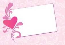 Valentine floral  card Royalty Free Stock Photo