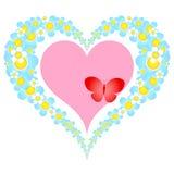 Valentine floral heart Stock Photo
