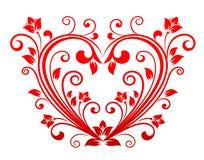 Valentine floral heart Stock Photos