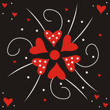 Valentine flower. Consist of red hearts Royalty Free Illustration