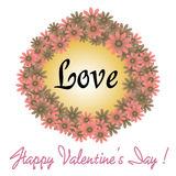 Valentine flower frame Stock Photo
