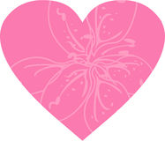 Valentine Flower Heart. Vector illustration of an abstract Flower in a cute Valentine Heart Royalty Free Stock Image