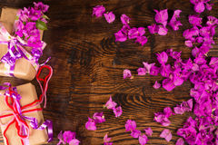 Valentine flowers and prestents royalty free stock image