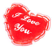 Valentine fluffy heart pillow Royalty Free Stock Images