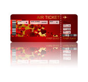 Valentine fly ticket with shadow  over white Royalty Free Stock Photo