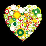 Valentine flyer with heart. Love concept , a big green heart Royalty Free Stock Photo