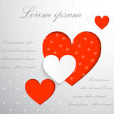 Valentine. Fore hearts on a white background Stock Photo