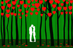 Valentine Forest - Vector. Valentine Forest is a  illustration Stock Images