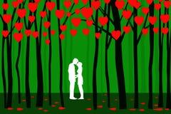 Valentine Forest - Vektor Stockbilder