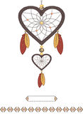 Valentine in the form of Dream catcher Stock Photos