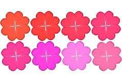 Valentine Four-Leaf Clovers Stock Photography