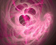 Valentine fractal background Stock Photo